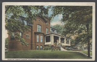 Home of Joseph Cannon, Danville, Ill. Postcard