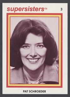 Patricia Scott Schroeder Supersisters Trading Card