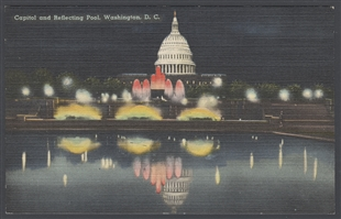 Capitol and Reflecting Pool, Washington, D.C. Postcard