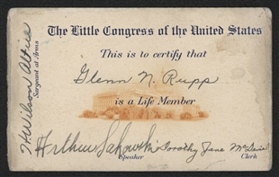 Little Congress Membership Card