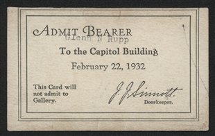 Capitol Building Pass