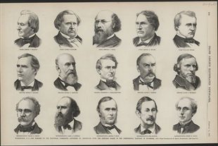 Washington, D.C. - The Members of the Electoral Commission Appointed to Adjudicate Upon the Disputed Points in the Presidential Election of November, 1876