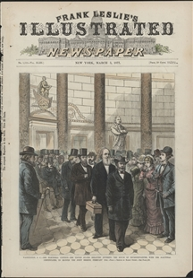 Washington, D.C. - The Electoral Contest - The United States Senators Entering the House of Representatives, with the Electoral Certificates to Re-Open the Joint Session, February 12th