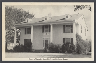Home of Sam Rayburn, Bonham, Texas Postcard