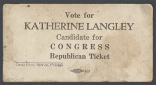Katherine Langley for Congress Campaign Card