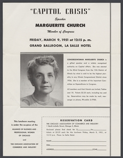 Marguerite Stitt Church Speech Flyer