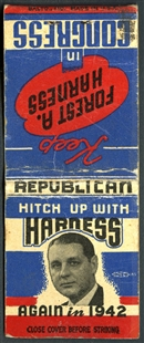 Forest Arthur Harness Campaign Matchbook