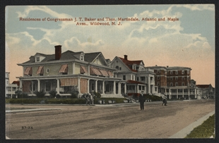 Jacob Thompson Baker Residence Postcard