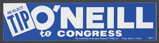 Thomas Philip (Tip) O'Neill Jr. Bumper Sticker