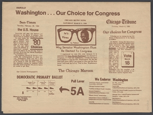 Harold Washington Handbill