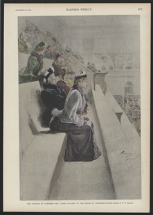 The Opening of Congress - The Ladies' Gallery of the House of Representatives