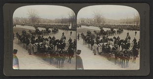 Prince Henry Arriving at the Capitol Stereoview
