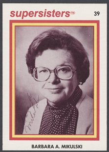 Barbara Ann Mikulski Supersisters Trading Card