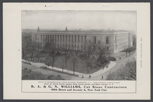 House of Representatives Office Building, Cut Stone Advertisement