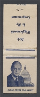 Richard Bowditch Wigglesworth Campaign Matchbook