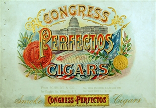 Congress Perfectos Cigar Box Label