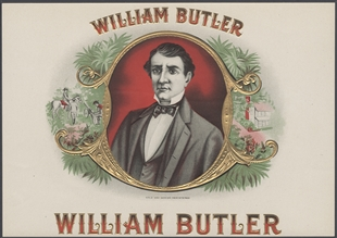 William Orlando Butler Cigar Box Label