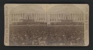 The Inauguration of President Cleveland, March 4th, 1893 Stereoview