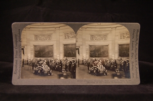 President Harding's Body Lying in State in the Rotunda of the Capitol, Washington, D.C. Stereoview