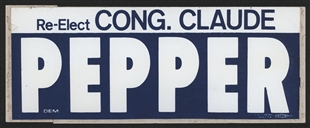 Claude Denson Pepper Campaign Bumper Sticker