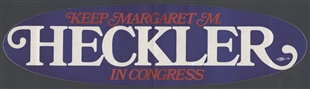 Margaret M. Heckler Bumper Sticker