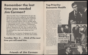 James Charles Corman Campaign Booklet