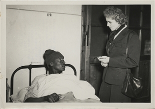 Clare Boothe Luce Visits Hospital in Italy