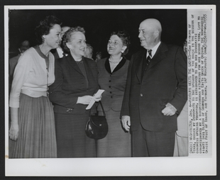 Sam Rayburn Greets Congresswomen