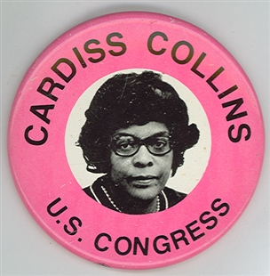 Cardiss Collins Lapel Pin