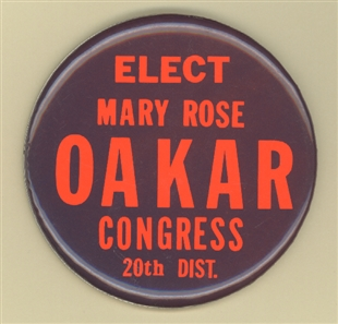 Mary Rose Oakar Lapel Pin