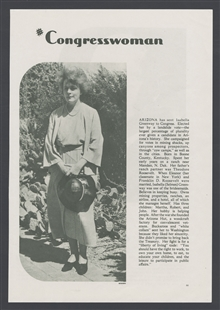 Isabella Selmes Greenway, Magazine Article