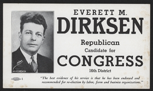 Everett M. Dirksen Palm Card