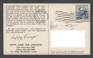 John Newbold Happy Camp Postcard