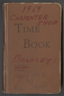Carpenter Shop Time Book