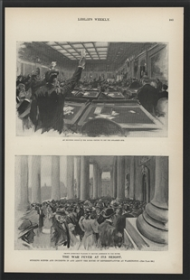 The War Fever at its Height - Stirring Scenes and Incidents in and About the House of Representatives at Washington