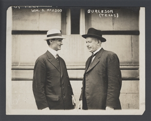 William Gibbs McAdoo and Albert Sidney Burleson
