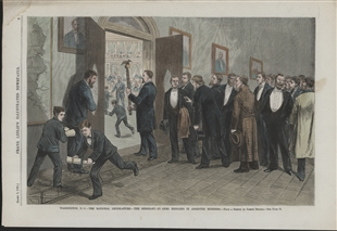 Washington, D.C. - The National Legislature - The Sergeant-at-Arms Bringing in Absentee Members