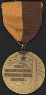 Washington Evening Star Games Baseball Medal