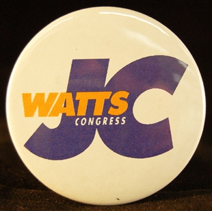 Julius Caesar (J.C.) Watts, Jr. Lapel Pin