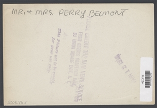 Perry Belmont and Wife
