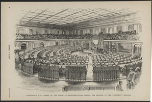 Washington, D.C. - Scene in the House of Representatives During the Reading of the President's Message