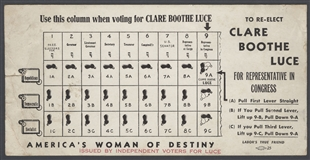Clare Boothe Luce Blotter