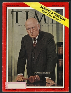 Samuel Taliaferro Rayburn, Time Magazine Cover