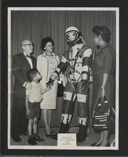 Gus Hawkins and an Astronaut Suit