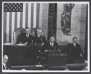 President Kennedy at the Rostrum