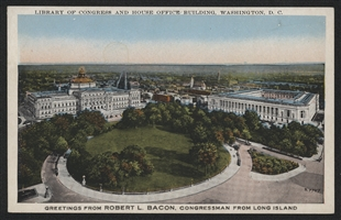 Cannon House Office Building and Library of Congress Postcard