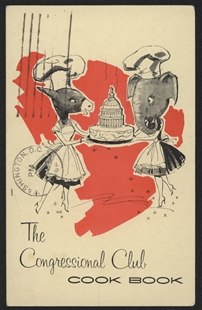 The Congressional Club Cookbook Postcard