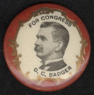De Witt Clinton Badger Lapel Pin