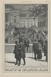 The Steps of the Capitol, at the Opening of the Fifty-Seventh Congress