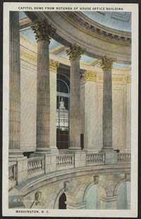 Capitol Dome from Rotunda of House Office Building Postcard